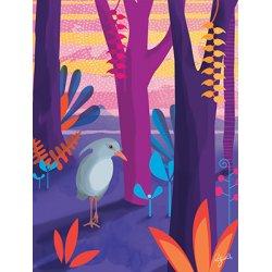 Affiche Le cagou dans la forêt (30 x 40 cm)
