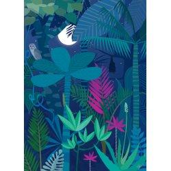 Affiche La forêt nocturne A3