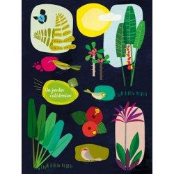 Affiche Un Jardin calédonien A3 (fond bleu)