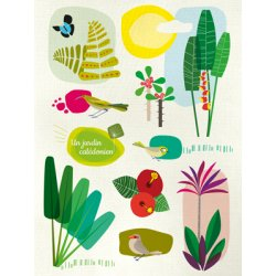 Affiche Un jardin calédonien A3 (fond blanc)