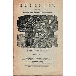 Bulletin de la Société des études océaniennes n° 135