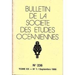 Bulletin de la Société des études océaniennes n° 236
